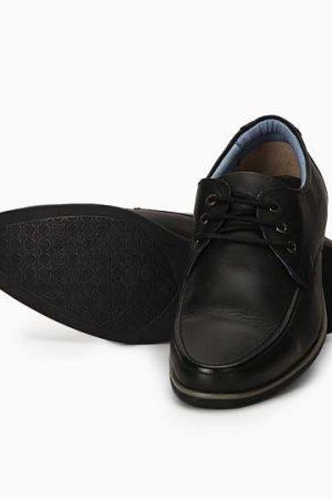 Easton Black Leather Formal Shoes