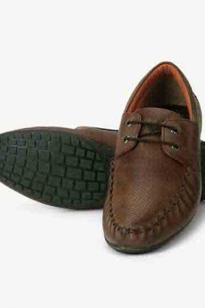 Dakota Brown Leather Casual Shoes