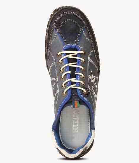 Fabian Blue Suede Casual Shoes
