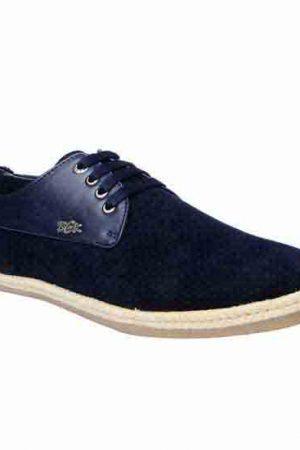 Sanchez Navy Fabric Casual Shoes