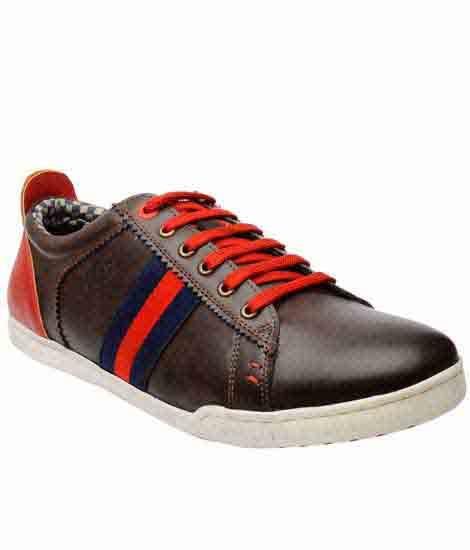 Estrada Brown Pu Casual Shoes
