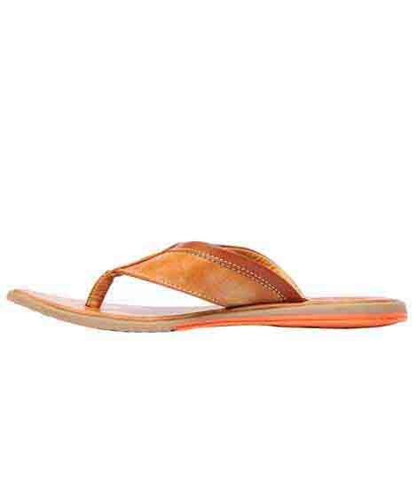 Jace Tan Leather Casual Flip Flops