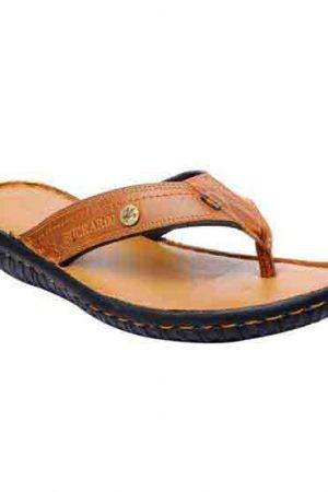 Charro Tan Leather Casual Flip Flops