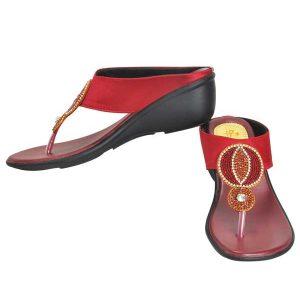Freya Women's Classy Sandal Slippers - Maroon
