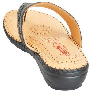 Ajanta Women's Classy Sandal Slippers - Black