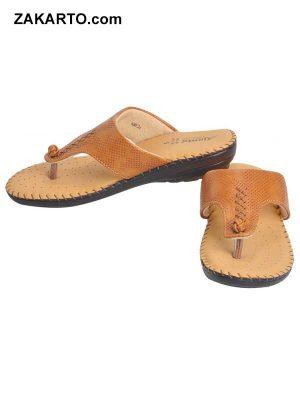 Ajanta Women's Classy Sandal Slippers - Brown