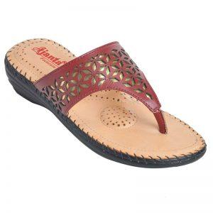 Ajanta Women's Classy Sandal Slippers - Maroon