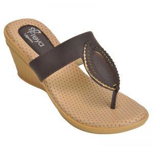 Freya Women's Classy Sandal Slippers - Brown & Beige