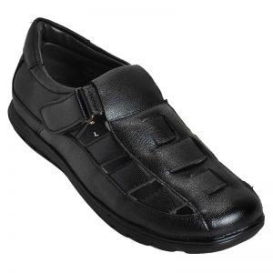 Ajanta Men's Casual Office Sandals - Black