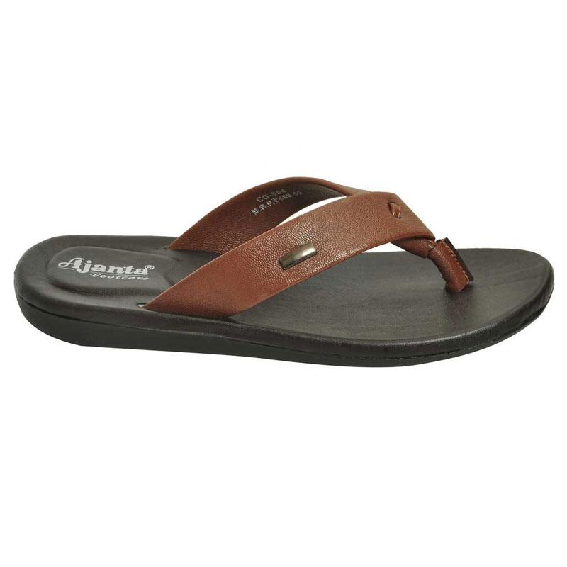 9ff53b85f449 Ajanta Men s Classy Sandal Slipper – Black   Tan