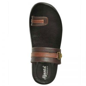 Ajanta Men's Classy Sandal Slipper - Brown & Black