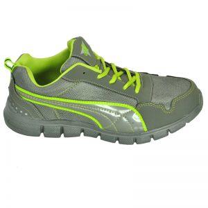 Ajanta Men's Sports Shoe - Grey & Green