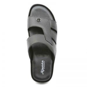 Ajanta Men's Classy Sandal Slippers - Black