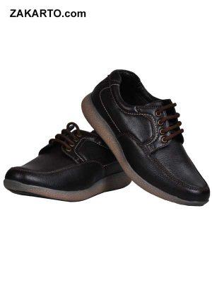 Ajanta Men's Casual Shoes - Brown & Black