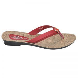 Women's Cherry Colour Synthetic Sandals
