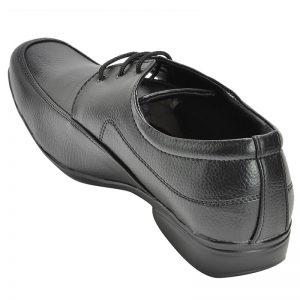 Men's Black Colour Synthetic Leather Derby