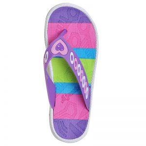 Women's Violet Colour PVC Flip Flops