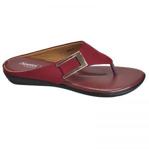 Women's Cherry Colour PU Synthetic Sandals