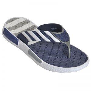 Men's Grey Colour PVC Flip Flops