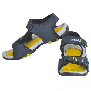 Men's Blue & Yellow Colour Polyester Sandals