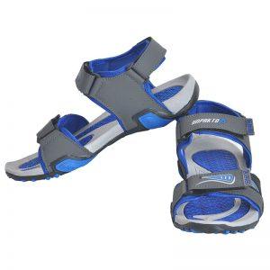 Men's Blue & Grey Colour Polyester Sandals