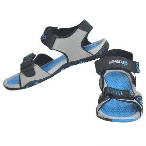 Women's Black & Blue Colour Polyester Sandals
