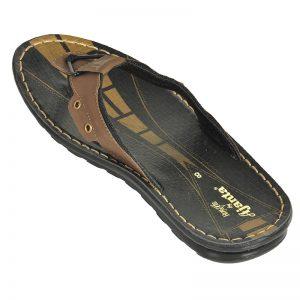 Men's Black & Brown Colour PU Sandals