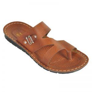 Men's Tan Colour PU Sandals