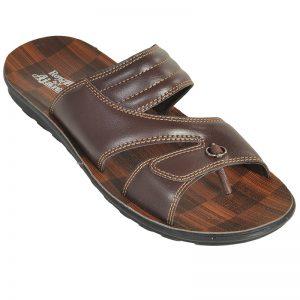 Men's Brown Colour PU Sandals