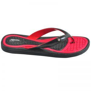 Men's Black & Red Colour Synthetic Sandals