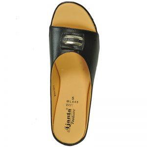 Women's Black Colour Synthetic Sandals
