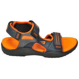 Men's Orange & Grey Colour Mesh Sandals