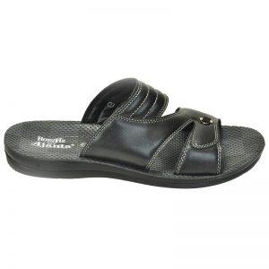 Men's Black Colour Synthetic Sandals