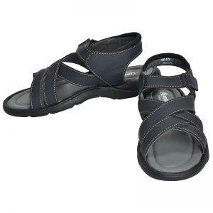 Men's Dark Blue Colour Synthetic Leather Sandals