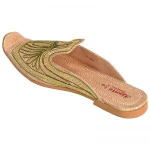 Men's Beige Colour Synthetic Leather Sherwani Jutti Shoes