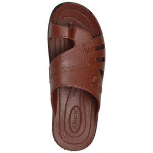 Men's Red Colour Rubber Sandals