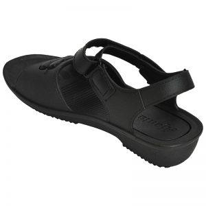 Women's Black Colour Rubber Sandals