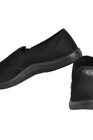 Men's Black Colour Fabric & Lycra Loafers