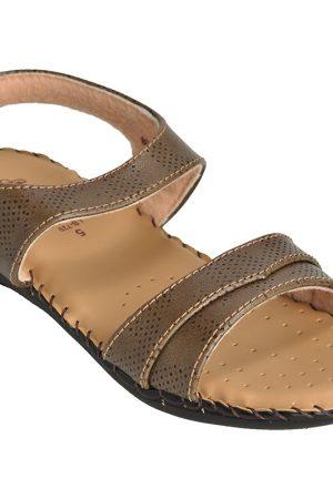 Women's Brown Colour Canvas Sandals