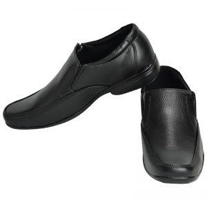 Men's Black Colour Synthetic Leather Mocassins