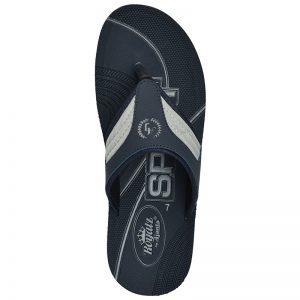 Men's Blue Colour Synthetic Leather Sandals