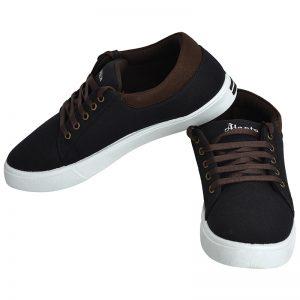 Men's Black Colour Canvas Canvas Shoes