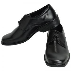 Men's Black Colour Genuine Leather Derby Boots