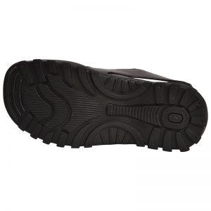 Men's Black Colour Synthetic Leather Sandals