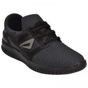 Men's Black Colour Synthetic & Mesh Sneakers