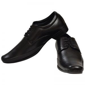 Men's Black Colour Leather Derby Boots