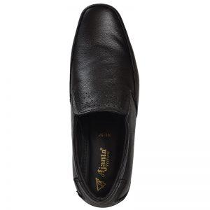 Men's Black Colour Leather Moccasins
