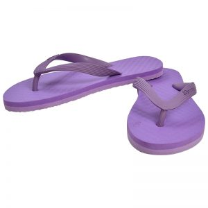 Women's Violet Colour Rubber Sandals