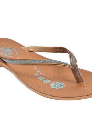 Women's Tan Colour PU Synthetic Sandals