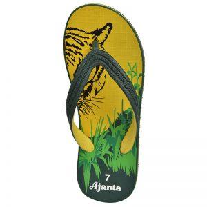 Men's Yellow & Green Colour Rubber Sandals